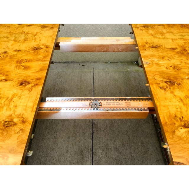 Burl Wood & Chrome Dining Table - Image 11 of 11