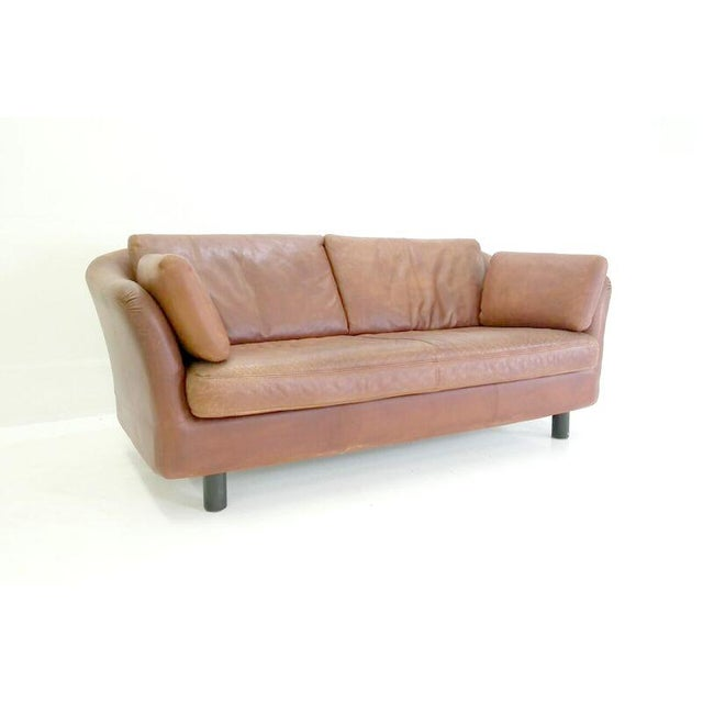 1970's Vintage Dux Leather Sofa - Image 4 of 5
