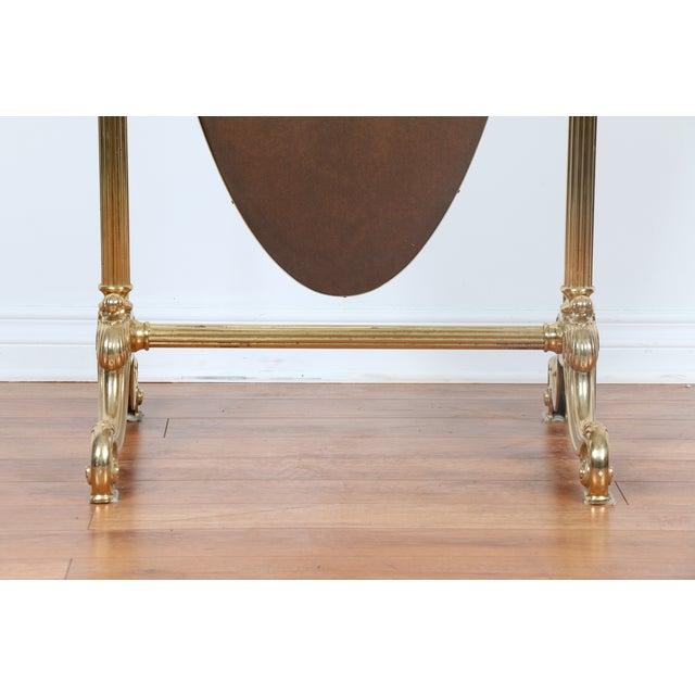 Gold brass vintage floor mirror chairish for Gold floor standing mirror