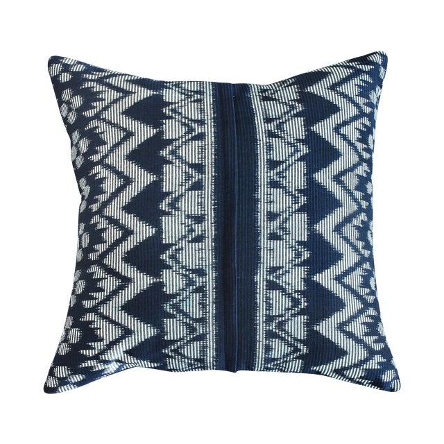 "Javanese Handwoven ""Black Ratu"" Pillow - Image 1 of 5"