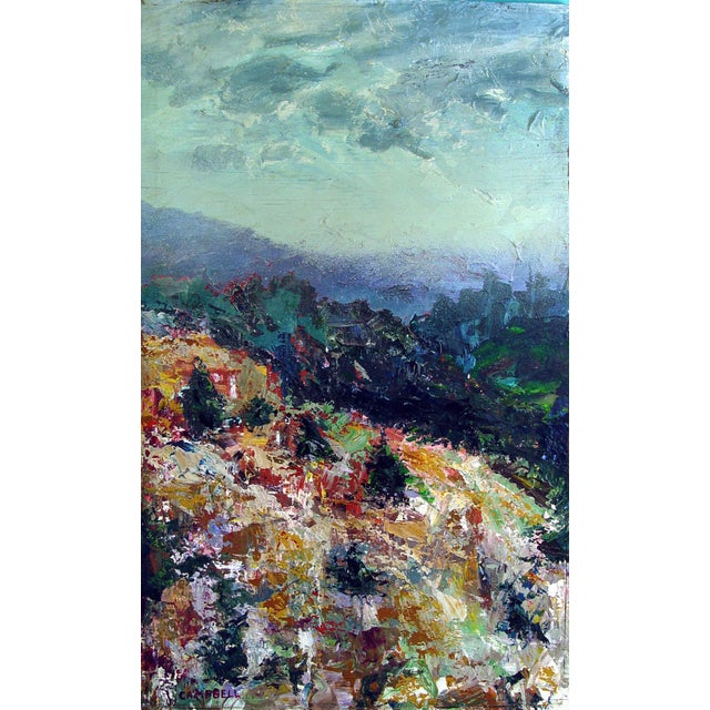 Modernist Mountain Landscape Painting - Image 1 of 2