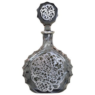 Silver Decorated Crystal Decanter