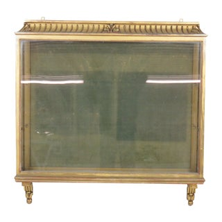 Antique French Gilt Carved Hanging Vitrine