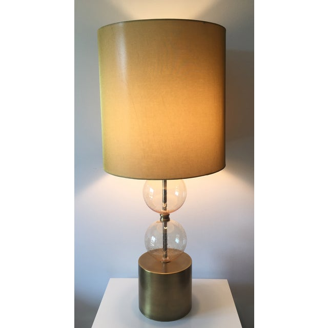 Image of Arteriors Gold Seeded Glass Lamp