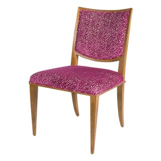 Kravet Knowle Side Chair in Plum Velvet