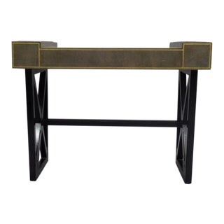 French Modern Neoclassical Leather Desk or Writing Table