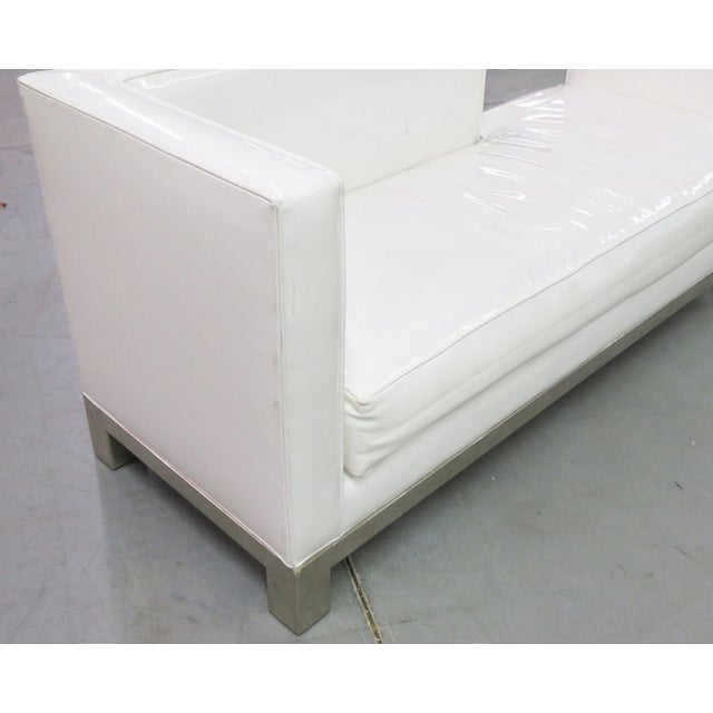 J.A. Casillas White Vinyl Sofa - Right - Image 4 of 6