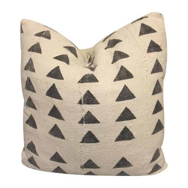 Mali Mudcloth Pillow, Triange, 18x18 - Image 1 of 5