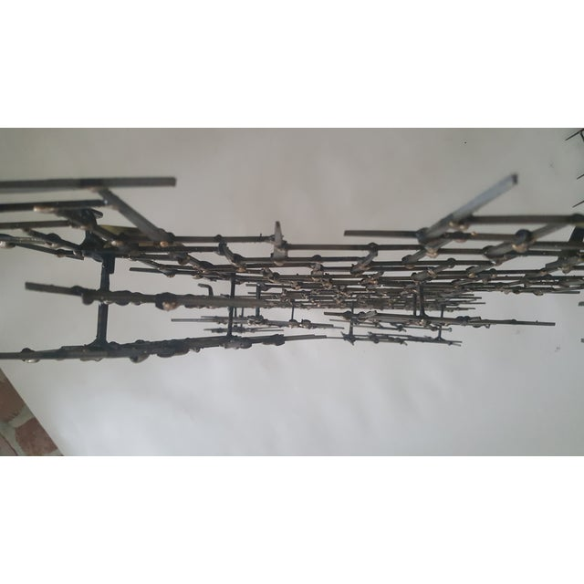 Abstract Fish Wall Sculpture Welded Nails & Bronze - Image 7 of 7