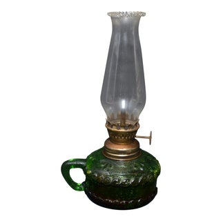 Miniature Glass Oil Lamp With Hurricane