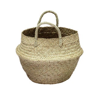 Natural Double Woven Balinese Sea Grass Basket