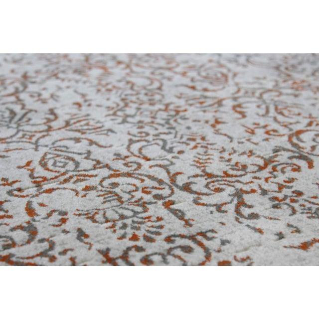 Distressed Turkish Gray Orange 10 feet Runner - Image 2 of 4