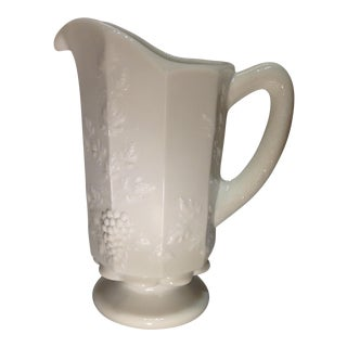 Vintage White Milk Glass Pitcher