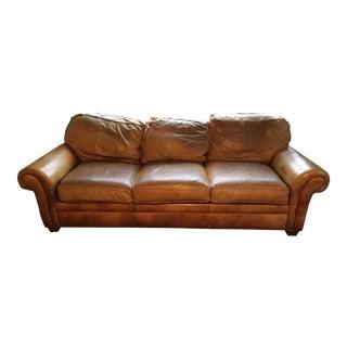 Hancock & Moore Whiskey Brown Leather City Sofa