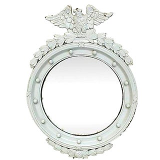 Federal Style White Eagle Convex Mirror