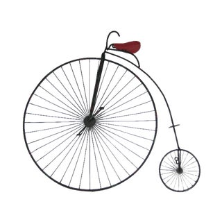 Curtis Jere Penny Farthing Bicycle Wall Sculpture
