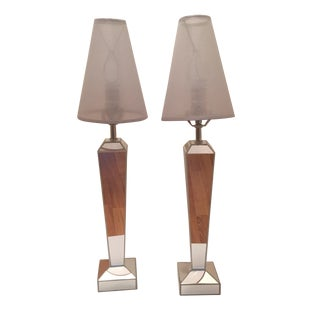 Venfield Mirrored Candlestick Lamps - Pair