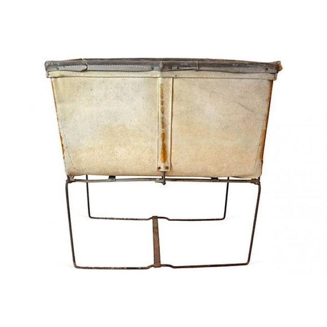 Large Industrial Canvas Laundry Bin - Image 4 of 6