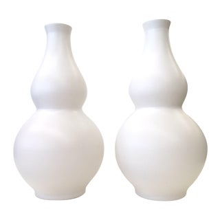 Custom Matte White Table Lamp Bases - a Pair