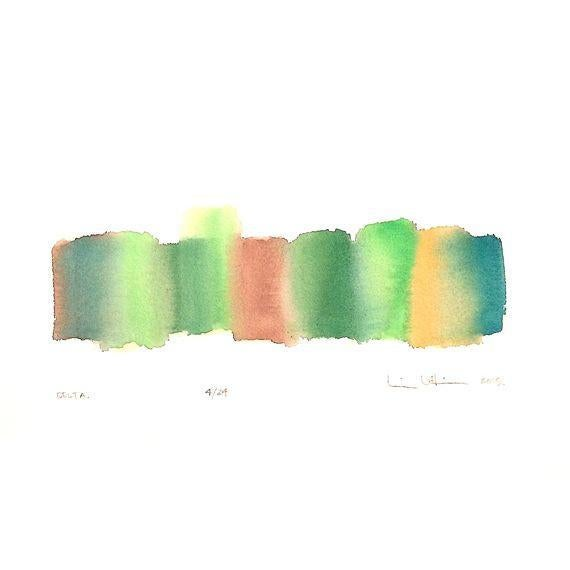 Image of 'Delta' Original Abstract Watercolor Painting