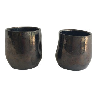 Celia Cole Pinch Pottery Cups - A Pair
