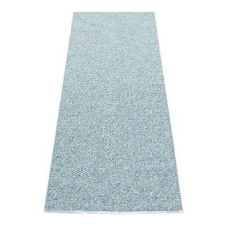 Pappelina Svea Metallic Azurblue & Pale Turquoise Runner - 2′4″ × 8′2″