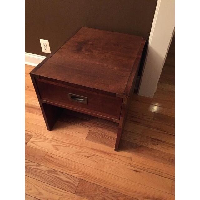 Lane Campaign Style Side Table/Night Table - Image 5 of 8