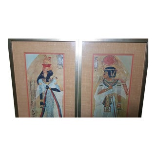 Egyptian Amenophis & Achmes Frame Art - A Pair