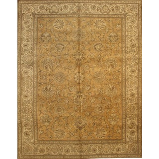 "Pasargad NY Antique Persian Tabriz Wool Pile Rug - 9'6"" x 12'4"""