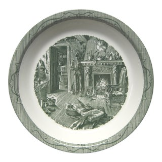 Old Curiosity Shop, by Royal, Pie Plate Green Transfer Ware