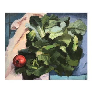 Weekend Lettuces - Original Oil Painting