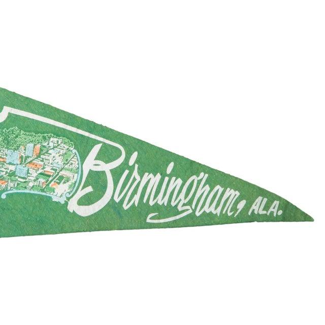Image of Vintage Birmingham, Alabama Felt Flag Banner