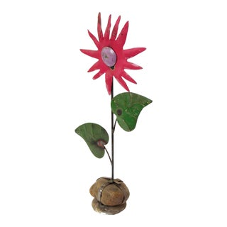 Handmade Tin Pink Flower