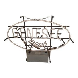 Vintage Genesee Beer Neon Advertising Sign