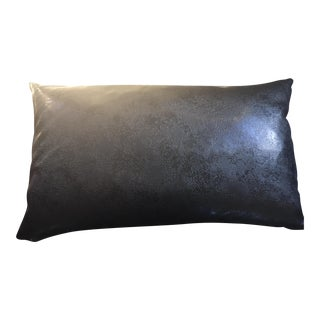 Textured Leather Lumbar Pillow