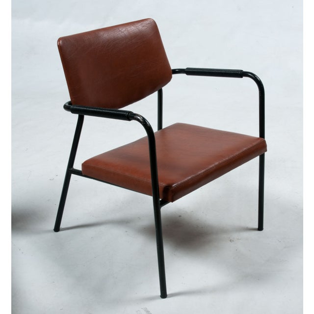 Image of 1950s Leather Armchairs - A Pair