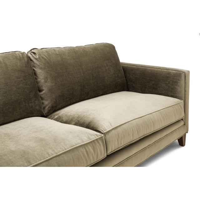 Clad Home Custom Velvet Sofa Chairish