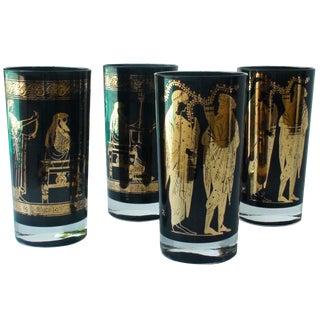 Neoclassical Motif Glasses - Set of 4