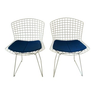 Harry Bertoia for Knoll Side/Dining Chairs with Pads - Pair