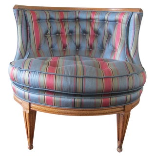 Mid-Century Modern Blue Tub Chair