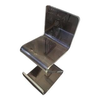 Italian Lucite Zig Zag Chair