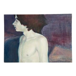 Vinatage Oil Portrait of Boy