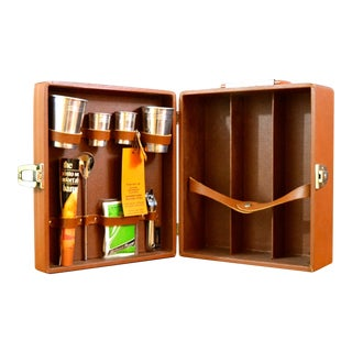 Mid-Century Mini Bar Travel Case Set