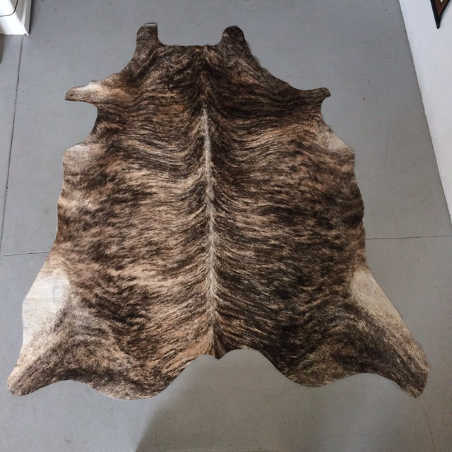 "Brindle Brown Hair on Hide Rug - 5'6"" x 4'10"" - Image 2 of 7"