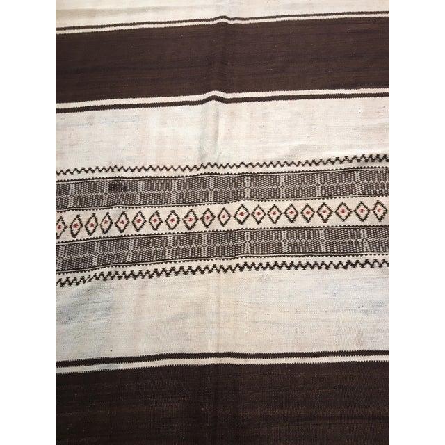 "1940s Vintage Moroccan Kilim Rug - 4'9""x13'8 - Image 7 of 7"