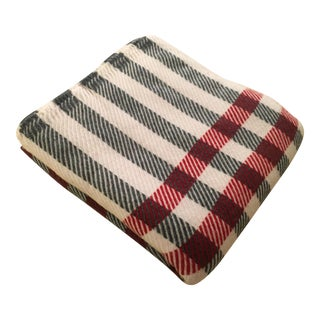 Black & Red Plaid Cashmere Blanket