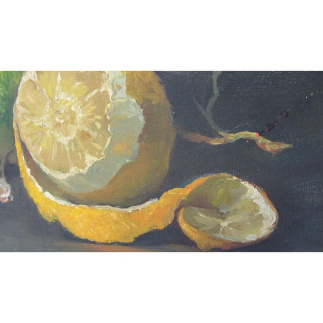 Lemon Still Life Original Oil by Hansen - Image 7 of 10