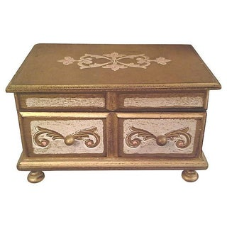 Gilt Florentine Dressing Table Jewel Box