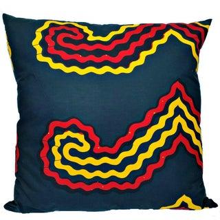 XL African Wax Print Fabric Pillow