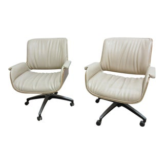 Vintage Plycraft Bentwood Office Lounge Chair - A Pair